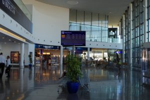 At Gibraltar airport facilities and services