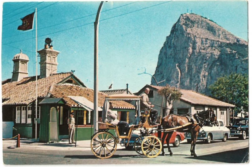 History of Gibraltar: frontier carriage