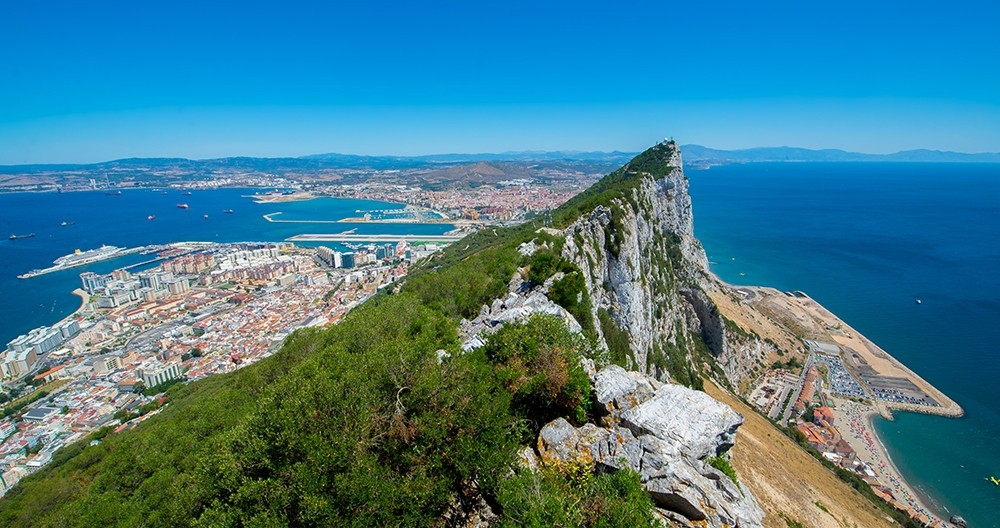 View from Gibraltar to the coast